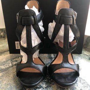 LAMB Strappy Sandal Black High Heel